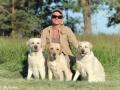 Olga Chernova with her labradors